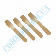 Wooden spoons for ice cream | 95mm | ChAC (China) | 100 pieces per pack