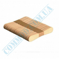 Wooden curly scoops 75mm for ice cream 100 pieces