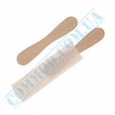 Wooden wrapped curly paddles 94mm for ice cream 100 pieces