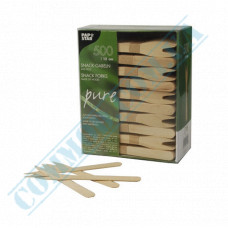 Wooden forks 121mm for snacks 500 pieces PapStar (Germany) art. 82557