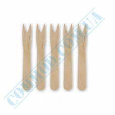 Wooden French fries forks | 85mm | 1000 pieces per pack