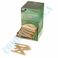Wooden forks 85mm for fries 1000 pieces PapStar (Germany) art. 18201