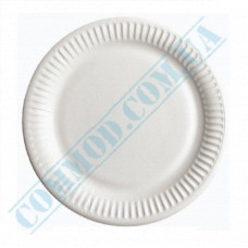 Paper round plates 18cm White with PE lamination 100 pieces
