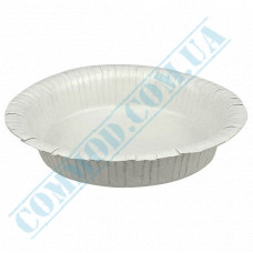 Round deep paper plates 19cm 400ml White with PE lamination 50 pieces per pack