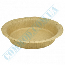 Round deep paper plates 19cm 400ml Kraft with PE lamination 50 pieces