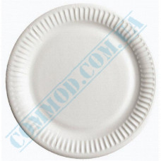 Round paper plates 23cm White with PE lamination 100 pieces