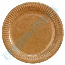 Round paper plates 23cm Kraft with PE lamination 100 pieces