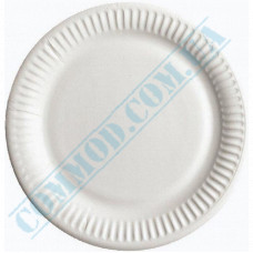 Round paper plates 30cm White with PE lamination 100 pieces per pack