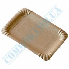 Paper plates 12*17cm Kraft with PE lamination 100 pieces per pack