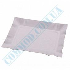 Paper plates 13*19cm White without PE lamination 100 pieces per pack