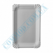 Paper plates 14*21cm White with PE lamination 100 pieces per pack