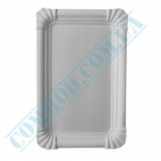 Paper plates 15*22cm White with PE lamination 100 pieces per pack