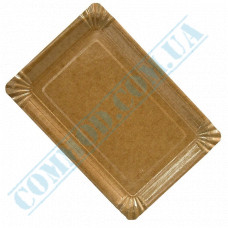 Paper plates 15*22cm Kraft with PE lamination 100 pieces per pack