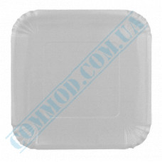 Paper plates 21*21cm White with PE lamination 100 pieces per pack