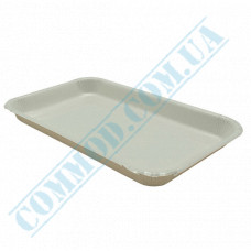 Paper plates 14*23*2cm White with PE lamination 100 pieces per pack