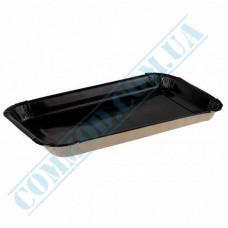 Paper plates 11*20*2cm Kraft with Black PE lamination 100 pieces