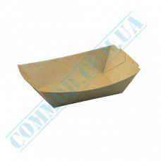 Paper boat plates 165*110*45mm Kraft with lamination 300 pieces per pack
