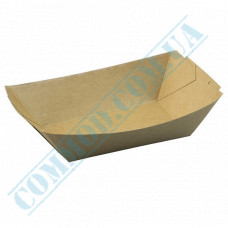 Paper boat plates 245*115*48mm Kraft with lamination 200 pieces
