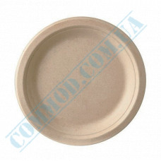 Round paper plates Ǿ=170mm made of sugarcane (bagasse) beige 50 pieces per pack