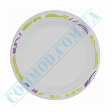 Paper plates 170mm from sugar cane (bagasse) Chinet Mosaic Huhtamaki (Poland) 175 pieces per pack