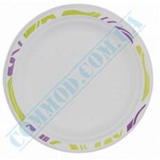 Sugarcane Round Plates 220mm Chinet Mosaic Huhtamaki (Poland) 50 pieces