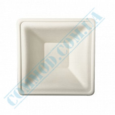 Sugarcane deep square plates 160*160mm White 125 pieces