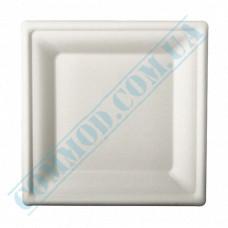 Sugarcane square plates 200*200mm White 125 pieces