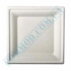 Paper plates made of sugar cane (bagasse) 200*200mm white 125 pieces per pack