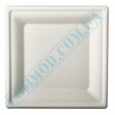 Paper plates made of sugar cane (bagasse) 240*240mm white 125 pieces per pack