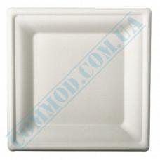 Sugarcane square plates 240*240mm White 125 pieces
