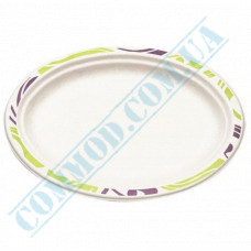 Paper plates made of sugar cane (bagasse) 260*190mm oval Chinet Mosaic Huhtamaki (Poland) 50 pieces per pack