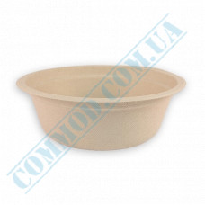 Paper plates 400ml from sugar cane (bagasse) Beige 50 pieces per pack