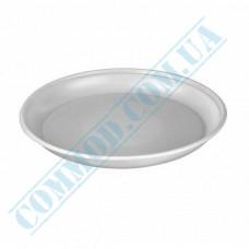 Plastic round plates d=170mm white 100 pieces per pack