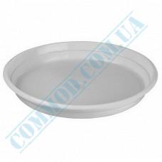 Plastic round plates d=205mm white 100 pieces per pack