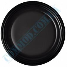 Plastic round plates d=220mm black 50 pieces per pack