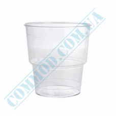 Glass-like cups 200ml transparent 25 pieces (mark 200ml)
