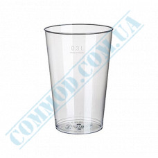 Glass-like cups 300ml transparent 20 pieces