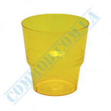 Glass-like cups 200ml Yellow 50 pieces per pack