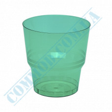 Glass-like cups 200ml Green 50 pieces per pack