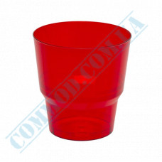 Glass-like cups 200ml Red 50 pieces