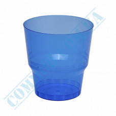 Glass-like cups 200ml Blue 50 pieces per pack