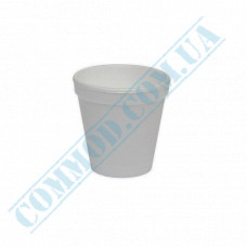 Cups 100ml made of polystyrene foam white for hot drinks 50 pieces
