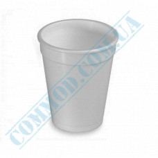 Cups 240ml made of polystyrene foam white for hot drinks 45 pieces
