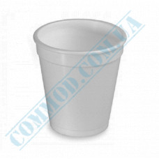 Cups made of foamed polystyrene 350ml white for hot drinks 20 pieces per pack
