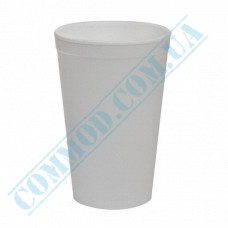 Cups made of expanded polystyrene 500ml white for hot drinks 20 pieces per pack