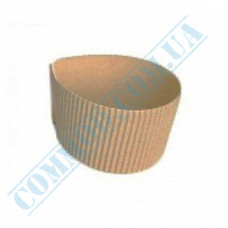 Thermo covers for cups 230-340ml cardboard corrugated folding Kraft 100 pieces per pack