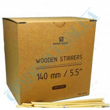 Wooden stirrers for coffee and tea 140*5*1.8mm 1000 pieces in a carton box