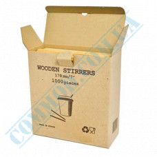 Wooden stirrers for coffee and tea 178*5*1.8mm 1000 pieces in a carton box