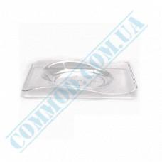 Forms buffet Saucer 80*66*8mm transparent 10ml 50 pieces per pack