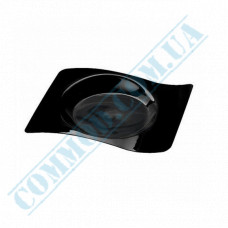 Forms buffet Saucer 80*66*8mm black 10ml 50 pieces per pack
